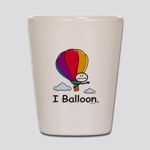 Hot Air Ballooning Stick Figure Shot Glass