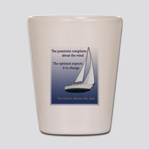 Adjust the sails Shot Glass