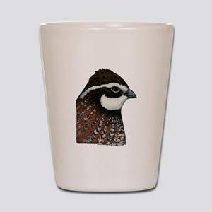 Bobwhite Quail Head Shot Glass