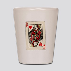 Retro Queen Of Hearts Shot Glass