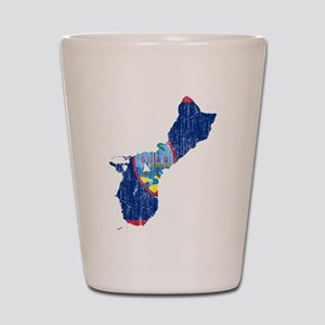 Guam Flag And Map Shot Glass