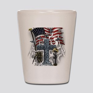 American Patriot Shot Glass