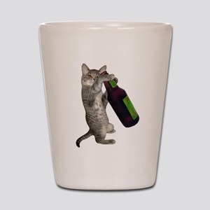 Cat Beer Shot Glass
