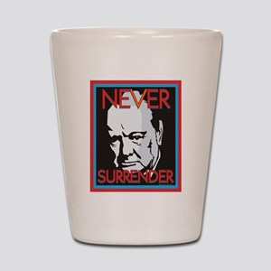 Never Surrender Shot Glass