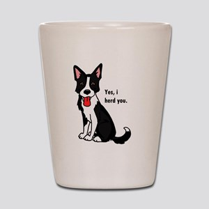 Border Collie -yes, i herd you Shot Glass