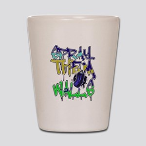 Hip Hop Urban Graffiti Artist Typograph Shot Glass