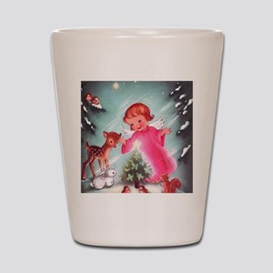 Vintage Christmas Image 4 Shot Glass