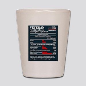 Veteran Nutrition Facts Shot Glass