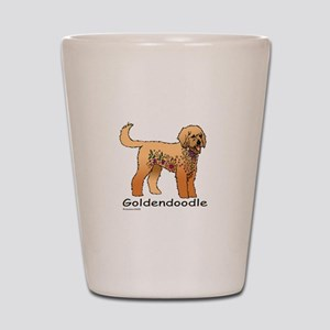 Tangle Goldendoodle Shot Glass
