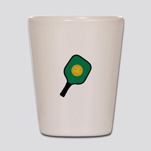 PICKLEBALL AND PADDLE Shot Glass