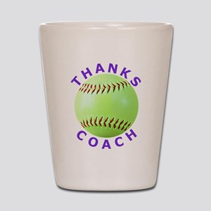 Softball Coach Thank You Unique Gifts Shot Glass