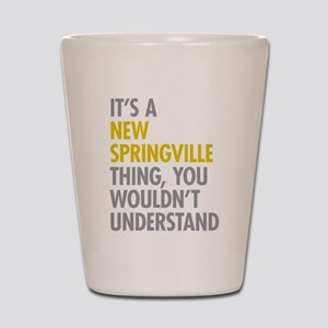 New Springville NY Thing Shot Glass