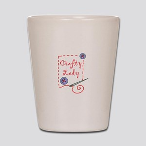 Crafty Lady Shot Glass