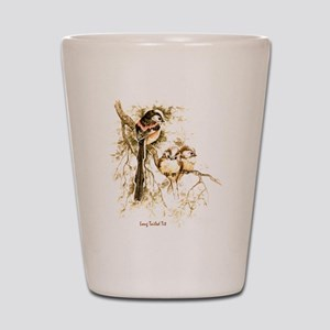 "Birds and Young ""Long tailed Tits"" Pete Shot Glass"