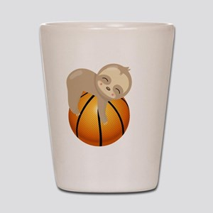 Cute Sloth Basketball Shot Glass