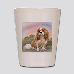 Cavalier_King_Charles_for blanket Shot Glass