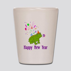 New Year's Frog Shot Glass