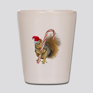 Squirrel Candy Cane Shot Glass