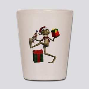 Dancing Holiday Santa Frog Shot Glass
