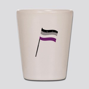 LGBT Asexual Pride Equality Flag Gift Shot Glass