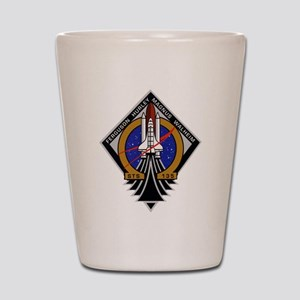 STS 135 Atlantis Shot Glass