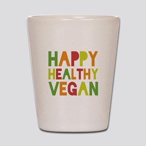 Happy Vegan Shot Glass