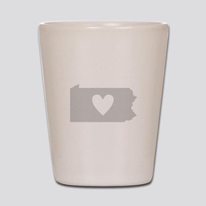 Heart Pennsylvania Shot Glass