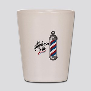 Barber Is In Shot Glass