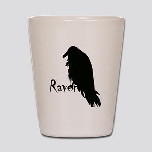 Black Raven on Raven Shot Glass