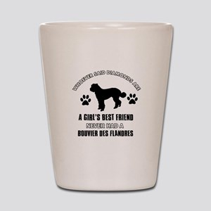 Bouvier Des Flandres Mommy designs Shot Glass