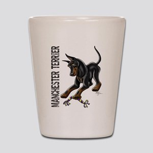 Manchester Terrier - Cropped Shot Glass