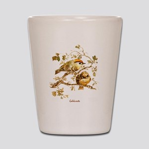 "Birds and Young ""Goldcrests"" Peter Bere Shot Glass"