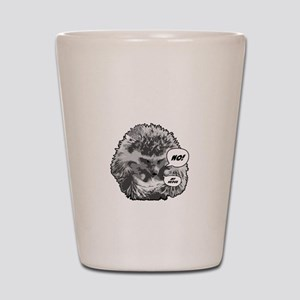 Hedgehog-Shirt-blk Shot Glass