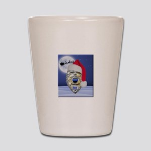 Law Enforcement Support Christmas Shot Glass