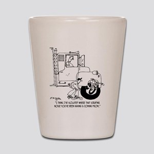 5441_truck_cartoon Shot Glass