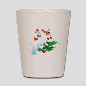 Cute Dragon Christmas  Shot Glass