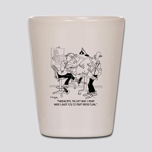 4998_bridge_cartoon Shot Glass