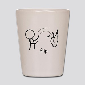 Flip the Bird (dark) Shot Glass