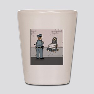 Grammar Police Shot Glass