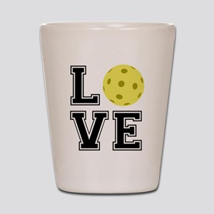 Love Pickleball Shot Glass