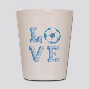 Love Soccer Shot Glass