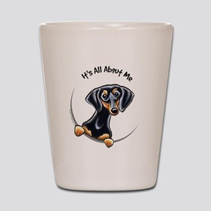 Black Tan Dachshund Lover Shot Glass