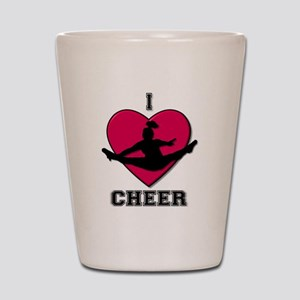 I love Cheerleading Shot Glass