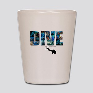 dive in pics copy Shot Glass