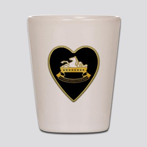 8th-Cavalry-Heart-neckless Shot Glass