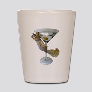 Martini Squirrel Shot Glass