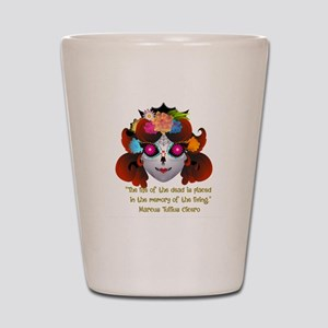 Sugar Skull with Quote Shot Glass
