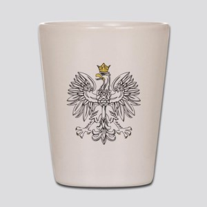 Polish Eagle With Gold Crown Shot Glass