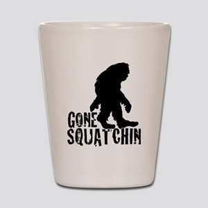 Gone Squatchin print 3 Shot Glass