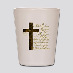 Plan of God Jeremiah 29:11 Shot Glass